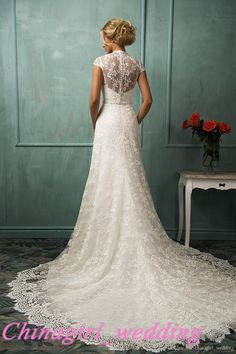 Styles Of Wedding Dresses Elegant Cheap Lace Wedding Dresses With Beads Sash Scoop Neck Sheer Cap Sleeves Aline Bridal Formal Gowns Vera Wang Gowns From Chinagirl_wedding, $162.1| Dhgate.Com