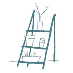Illustratie plantenrek; Stokwolf voor www.radijsje.nl