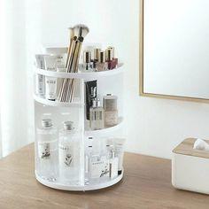 Organizer Makeup, Organizer Box, Lipstick Organizer, Makeup Storage Organization, Cosmetic Storage, Beauty Organizer, Cosmetic Items, Makeup Brush Storage, Cosmetic Case