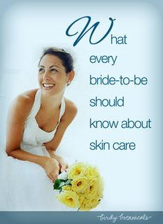 http://www.howtoplanyourownweddingonabudget.com/preweddingskincaretips.php has some tips and advice for the bride and groom on how to take care of one's skin, in order to make it look as good as possible on the big day.
