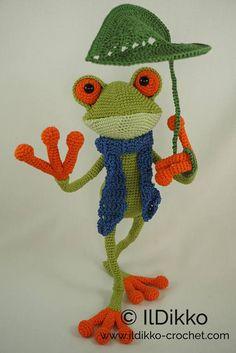 Amigurumi Crochet Pattern Fred the Frog English Version