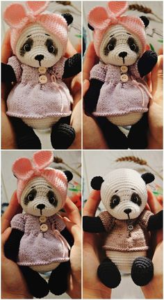 In this article we will share free amigurumi teddy bear crochet patterns. On our site you can find everything you are looking for about amigurumi. Crochet Panda, Crochet Turtle, Crochet Fox, Crochet Dolls, Diy Crochet, Knitted Teddy Bear, Teddy Bear Toys, Crochet Bear Patterns, Amigurumi Patterns