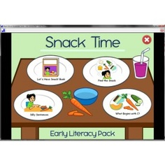 AAC device made for children with Autism/Aspergers. Developed by Mayer-Johnson. This device includes early literacy pack: snack time which is a play based activity that supports language development. Affordable price!