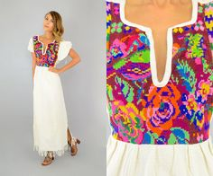Guatemalan Tapestry Dress by discoleafvintage on Etsy
