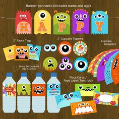 Monsters Party Monster Bash Printable by SplashboxPrintables