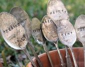Markers made from old spoons! outdoor-decor-and-garden-ideas