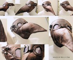 Plague Doctor Mask DIY -- Not difficult, just a lot of hand sewing.