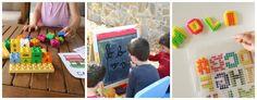 juegos caseros de escritura y lectura divertida Alphabet Activities, Preschool Activities, Bingo, Plastic Cutting Board, Children, Spanish, Writing, Home Made Games, Learning Letters
