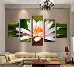 Frame Orchid Wall Painting Flower Canvas Painting Home Decoration Pictur - bdarop Home Wall Decor, Living Room Decor, Wall Painting Flowers, Flower Canvas, Unique Wall Art, Panel Art, Canvas Pictures, Cool Walls, White Flowers