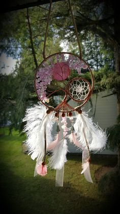 Pretty In Pink Tree Of Life Dream Catcher by PrettyThingz4UByMe