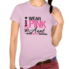 I Wear Pink For My Aunt Breast Cancer awareness shirts #breastcancer #breastcancerawareness #breastcancershirts