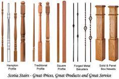 Wood Balusters & Newel Post - Oak, Birch, Maple, Ash & White Balusters
