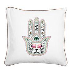 Hamsa Canvas Throw Pillow