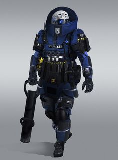 Juggernaut Police with battering ram