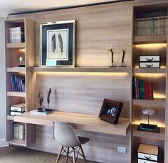 Interior Designs a Contemporary Apartment in Taipei – Trend Decor for You! Home Library Design, Home Office Furniture Design, Interior, Modern Home Offices, Contemporary Apartment, House Interior, Office Interior Design, Home Interior Design, Interior Design