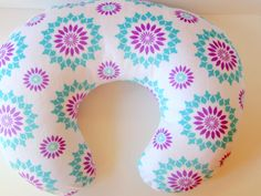 Boppy Cover, Bobby Cover, Boppy Pillow Cover, Tummy Time, Sit Up Support, Nurse, Purple, Teal, White, Minky Boppy Cover, Baby Girl Gift, RTS