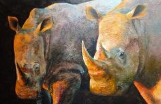 Rhynos, cm, oil on canvas Science And Nature, Oil On Canvas, Wildlife, Painting, Animals, Animales, Animaux, Painted Canvas, Painting Art