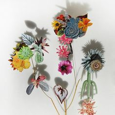 anne ten donkelarr - awesome collages of pressed and cut out flowers...via free people!