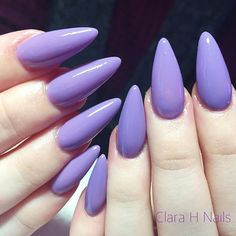 Grapey lilac perfection. Go and book online... - Acrylic Nails