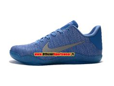 half off 63aeb 4640f Nike kobe 11 Elite Low - Chaussures Officiel BasketBall Pour Homme Bleu Gris