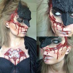 "4,258 Likes, 67 Comments - Emma Kjaer Vilhelmsen (@emmakjaervilhelmsen) on Instagram: ""Batgirl joins the zombie apocalypse 👻💉🕸🔫💀🌌⚰ #zombie #gore #specialeffects #fx #fxmakeup #makeup…"""