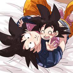 Goku looks so happy :3