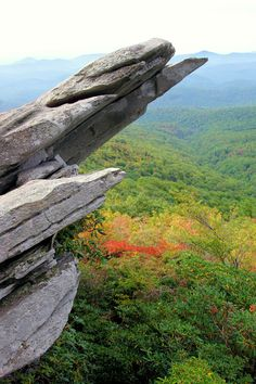 Rough Ridge hike on the Blue Ridge Parkway near Grandfather Mountain NC