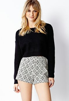 Baroque Woven Shorts | FOREVER 21 - 2000064062
