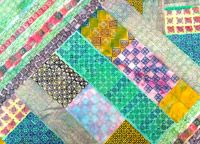 Have a go at block printing recycled fabric and making a patchwork quilt.  Choose the printing blocks for you  http://colouricious.com/block-printing-shop/block-printing-wooden-printing-blocks-stamps/