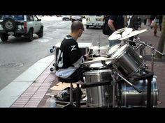 Epic Drummer on the street of  San Francisco - Goal is to get to this skill level by the end of the year.