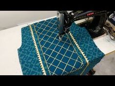 In this Video, I will show you Party Wear Neck Design using Gotta Patti Lace cutting and Stitching. Chudi Neck Designs, Neck Designs For Suits, Sleeves Designs For Dresses, Neckline Designs, Fancy Blouse Designs, Stylish Dress Designs, Blouse Neck Designs, Sleeve Designs, Churidar Neck Designs