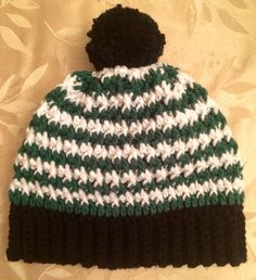 Handmade Crochet Pom textured hat by EverydayCrochet247 on Etsy