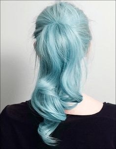 Would you dye your hair #blue? I looks amazing. #hair
