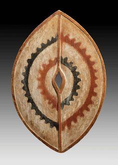 gallerie didier claes   Galerie-Didier-Claes-A-Kikuyu-shield--Wood,-pigments-Height-64.5-cm ...