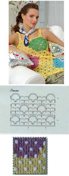 Top Lunares de Colores Patron - Patrones Crochet