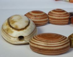 Ancient banded agate eye beads