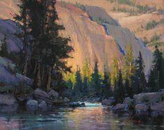 Kim Lordier painting, Granite Glow, 16x20, pastel