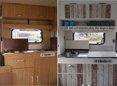 Caravan Kitchen cupboard transformation! wow!