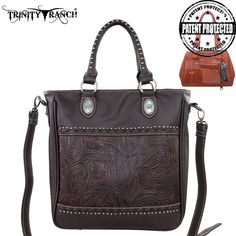Montana West Coffee Concealed Handgun CCW Purse Handbag Cowgirl Western Ranch #MontanaWest #ShoulderBag