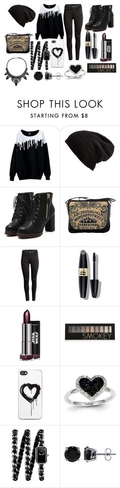 """""""Emo Outfit"""" by xoxo-agkittens ❤ liked on Polyvore featuring Free People, H&M, Max Factor, Forever 21, Zero Gravity, Kevin Jewelers, Chanel and BERRICLE"""