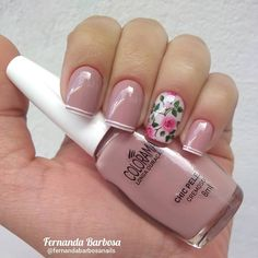 Simple Nails, Easy Nails, Nail Designs, Nail Art, Floral, Planting, Beauty, Yoga, Instagram