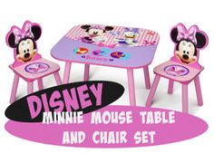 Disney Minnie Mouse Storage Table and Chairs Set | Top Toys For Girls #Disney #MinnieMouse #KidsRoom