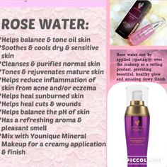 Younique skin care new look royalty rose water toning spritz. love it guaranteed #youniqueRoyalty #Rosewater #love