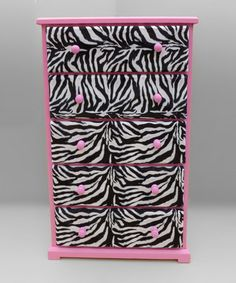 would be perfect in Rylee's room! Take a look at this Pink Zebra Dresser by Funky Kids by Mauricio's Furniture on #zulily today!