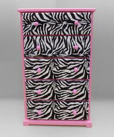 Pink & Zebra Dresser