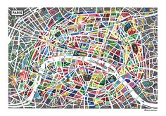 A map of Paris http://www.shop.antoinecorbineau.com/     All rights reserved Antoine Corbineau © Use and Reproduction forbidden without authorization