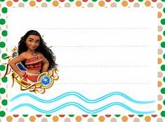 Grátis Etiquetas escolares Moana para Imprimir 28 Disney Birthday, Frozen, Wonder Woman, Superhero, Party, Moana Birthday, Moana Party, Invitations, Alphabet