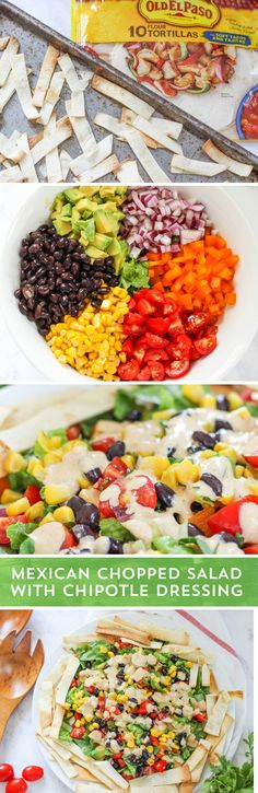 Not sure what to do with all of those fresh garden vegetables? Turn them into a tasty Mexican Chopped Salad with Chipotle Dressing! This quick and easy recipe from @iheartnaptime is hearty enough for a main dish, but still fresh and light for warm days. Ready in just 30 minutes, this salad is sure to please!