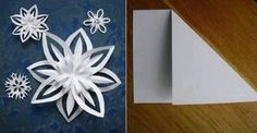 Hang a bunch of paper snowflakes on the ceiling of the classroom for a beautiful classroom setting! 3d Paper Snowflakes, How To Make Snowflakes, Foam Crafts, Paper Crafts, Origami Templates, Box Templates, Snow Flakes Diy, 3d Craft, Craft Corner