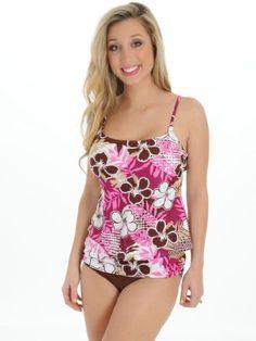 fd5bc97cb1c57 Womens Tankini Swimsuit Beautiful Floral print Modest Swim Suit Wear 2 Piece  Set Caribbean Sand.